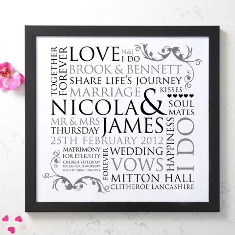 Personalised Wedding Word Design